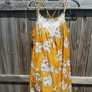 Dresses & Skirts - Mustard Floral Dress